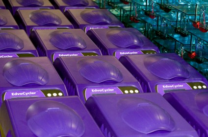 A new batch of Edvocyclers is prepared for shipping in our Washington, DC headquarters. Photo copyright Edvotek® 2014.