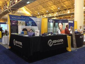 Our booth at the NSTA STEM Forum and Expo! © Edvotek 2014