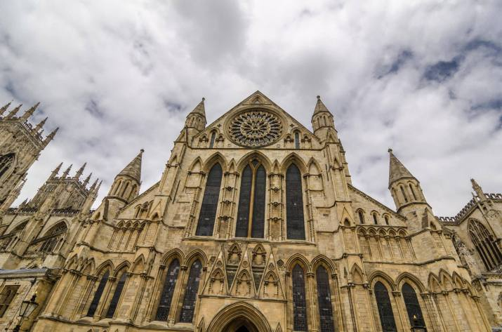 The main entrance of York Minster.
